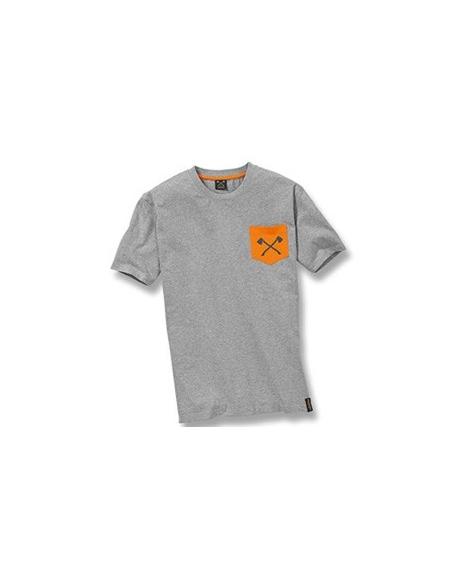 """STS Pocket-Shirt """"axe"""" szara, rozmiar XXL"""