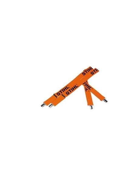 Szelki, pomarańczowe, 120cm, mocowane na guziki