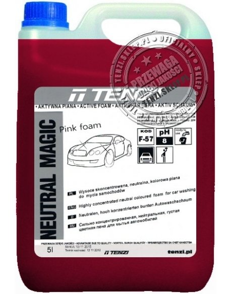 TENZI Neutral Magic Pink Foam 5l - Wysoce skoncentrowana, neutralna, kolorowa piana do mycia samochodów