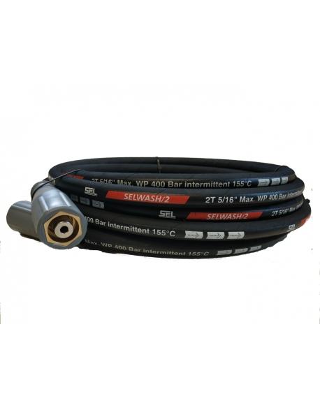 Wąż wysokociśnieniowy Easy Lock 10 m DN 8 w podwójnym oplocie