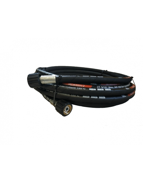 Wąż wysokociśnieniowy 2 x M22 x 1.5, 10 m DN 8 w podwójnym oplocie