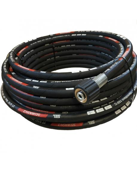 Wąż wysokociśnieniowy 2 x M22 x 1.5, 20 m DN 8 w podwójnym oplocie