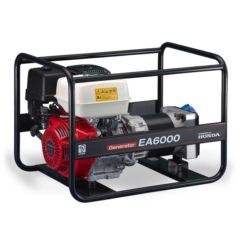 Agregat prądotwórczy z silnikiem Honda EA6000 (6,0kW jednofazowy) z przeglądem zerowym