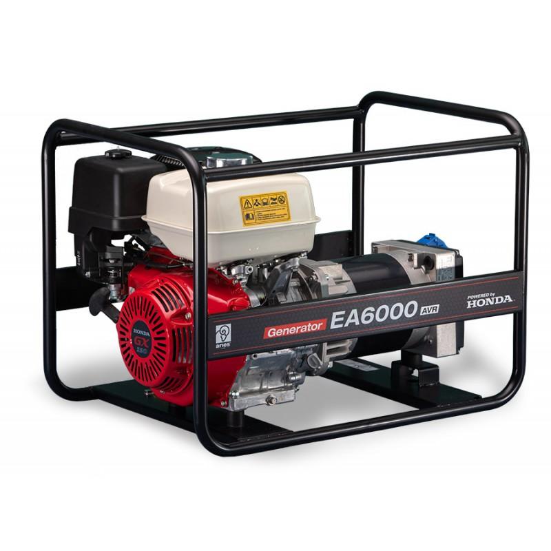 Agregat prądotwórczy z silnikiem Honda EA6000 AVR (6,0kW jednofazowy, stabilizacja) z przeglądem zerowym