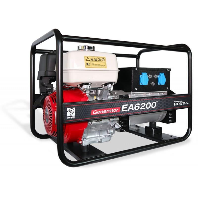 Agregat prądotwórczy z silnikiem Honda EA6200 (6,2kW jednofazowy) z przeglądem zerowym