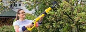 Akumulatorowe nożyce do gałęzi