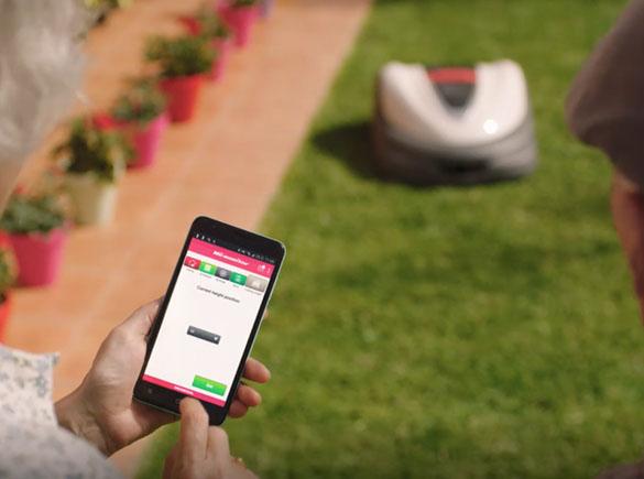 Kosiarka automatyczna Honda Miimo aplikacja do zarządzania